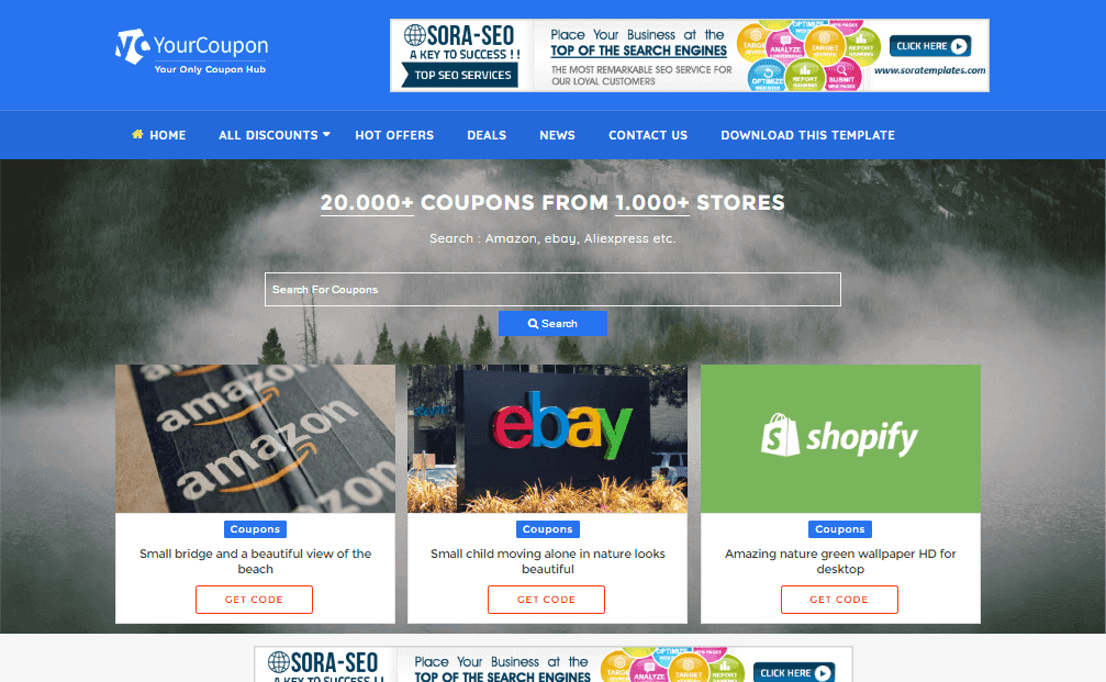 Your Coupon Blogger Template – Free Templates for Coupons