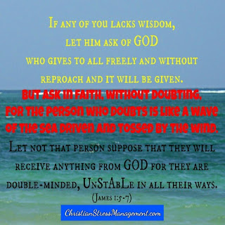 If anyone lacks wisdom, let them pray and ask God who gives freely to all and it will be given. But when they ask, they must not doubt because the person who doubts is like a wave in the sea tossed about by the wind and such a person should not suppose that they will receive anything from the Lord. (James 1:5-7)