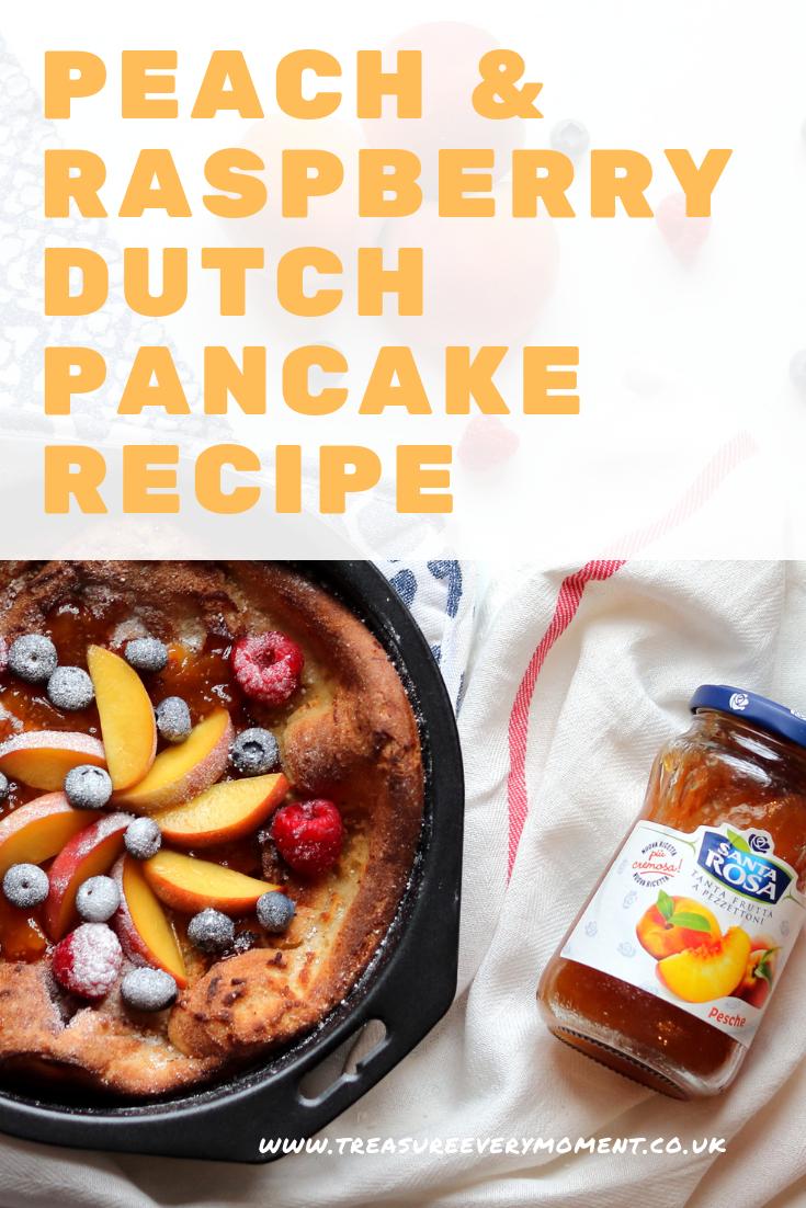 RECIPE: Peach and Raspberry Dutch Pancake