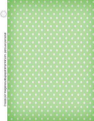 papel de lunares verdes y blancos