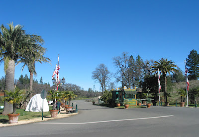 Entrance to Apollo, the Fellowship of Friends cult headquarters, and Renaissance Winery, in Oregon House, CA