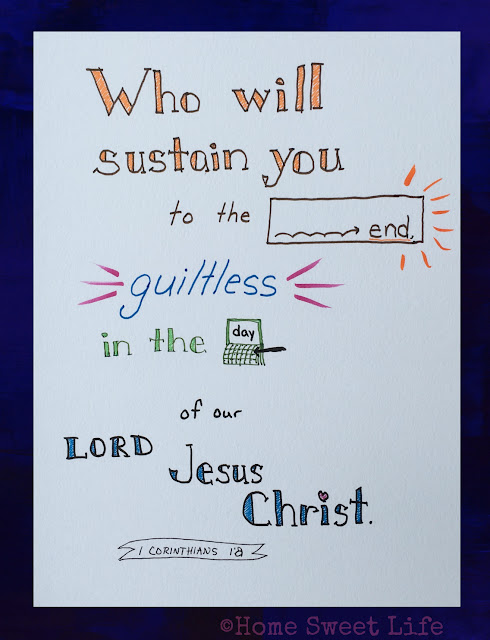 Scripture Writing, hand-lettering, Bible memorization