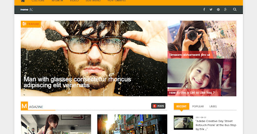 VeryMag Responsive Magazine Blogger Template