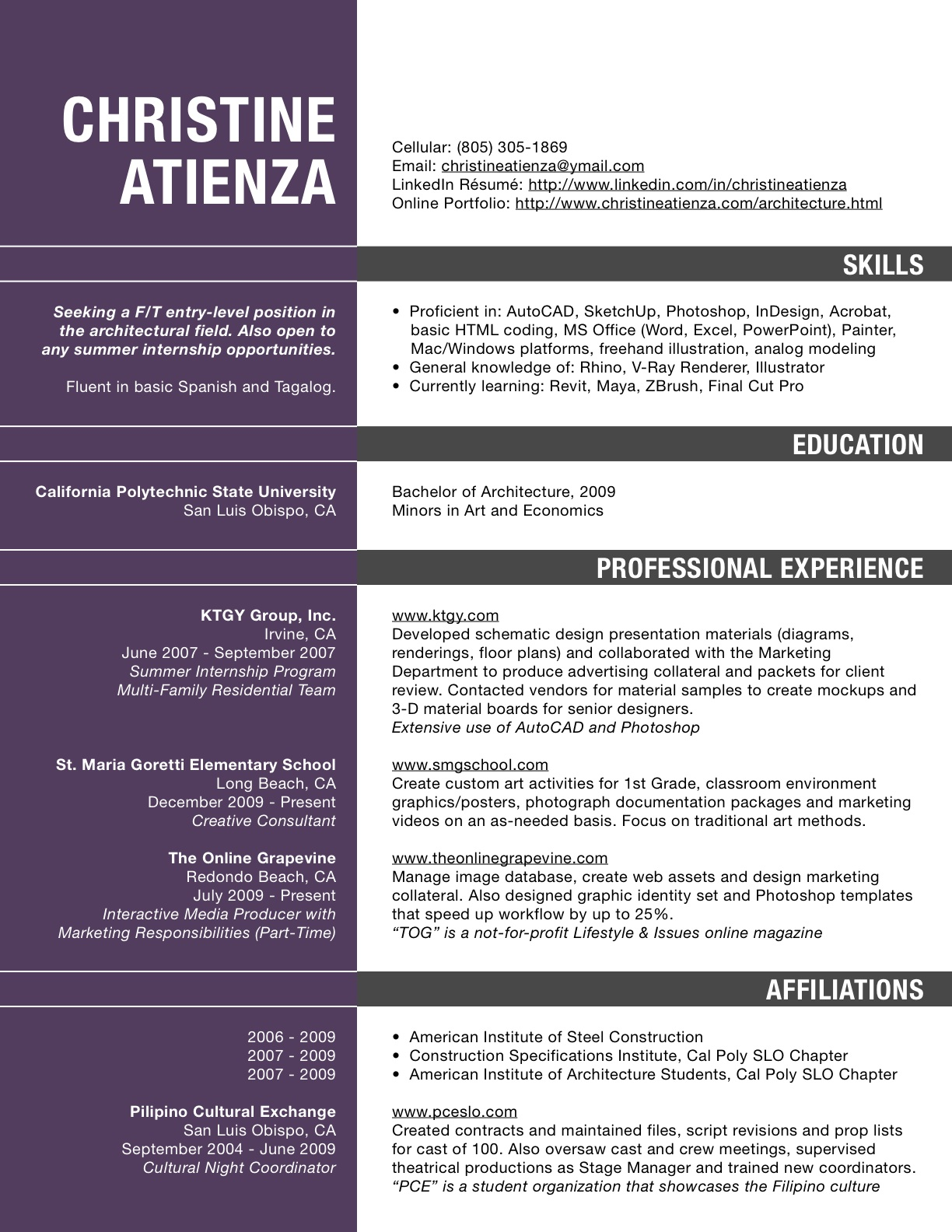 architect resume template ~ Gopitch.co