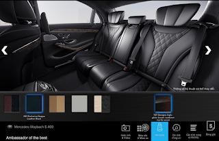 Nội thất Mercedes Maybach S450 4MATIC 2018 màu Đen 501