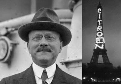André Citroën y Torre Eiffel