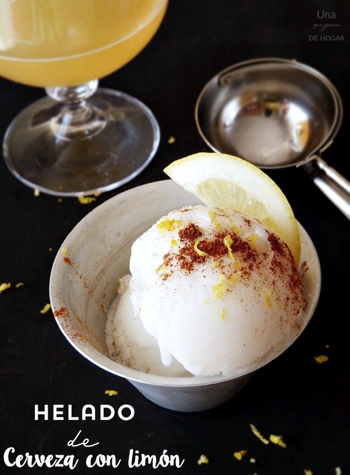 Helado de cerveza con limón (sin heladera)