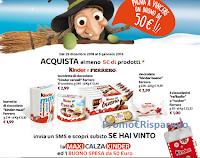 Logo Con Kinder e Ferrero vinci 1.850 Maxi Calza e 1.950 buoni spesa da 50€ : scopri l'anticipazione!