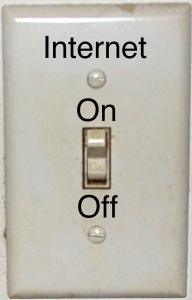 turn off internet