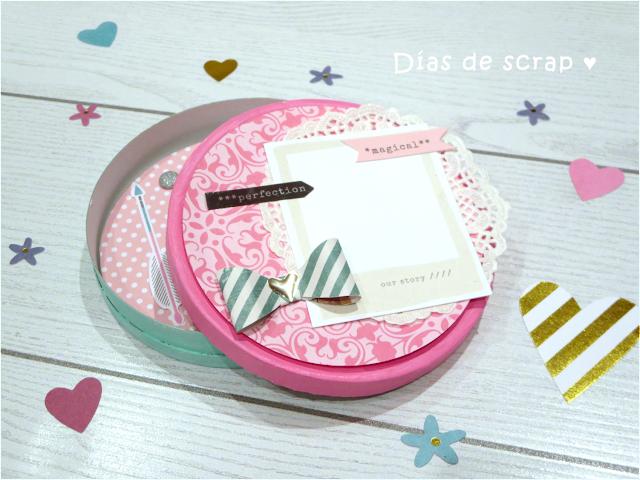 scrap diy Caja para empaquetado bonito