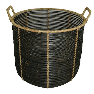 Rattan plant basket for family media room design