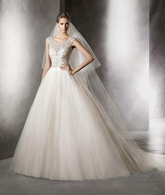 Telas brillantes para vestidos de novia