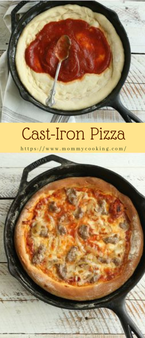 Cast-Iron Pizza #dinnerrecipe #ideaspizza