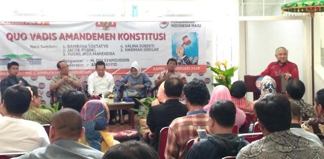 Din Syamsuddin: UUD 1945 Yang Asli Relevan Dipakai Hingga Tahun 2045