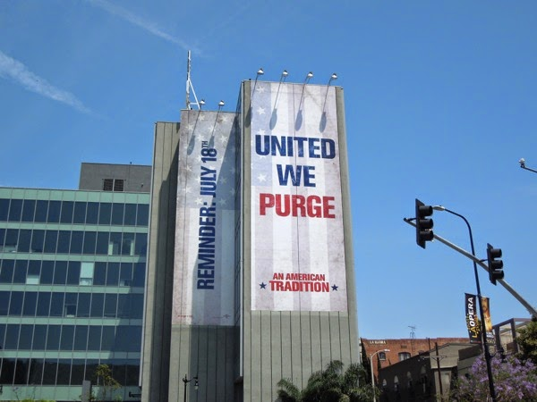Giant Purge Anarchy film billboard