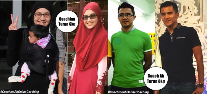 TOTAL LOSS: Coach Ina 12kg. Coach Ab 8kg.
