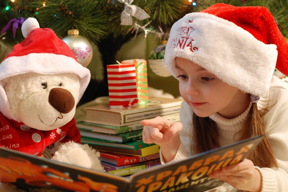 A Sweet Christmas Teddy Bear Image, Picture, Wallpaper with Girl