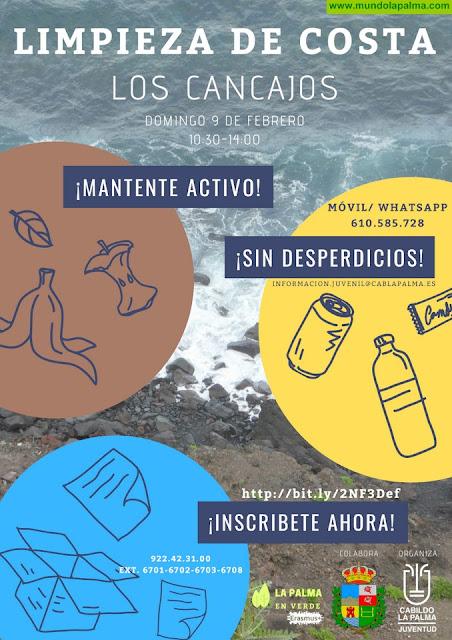 El Área de Juventud pone en marcha el proyecto 'La Palma en verde' con una limpieza del litoral en Los Cancajos