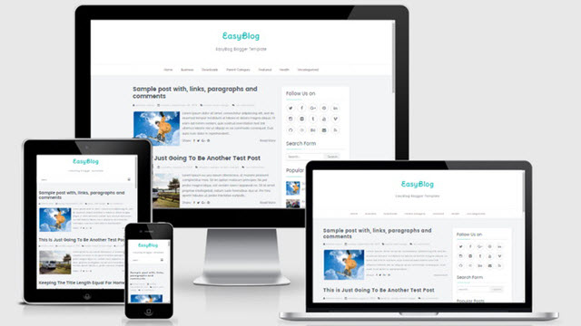 Easy Blogger template responsive