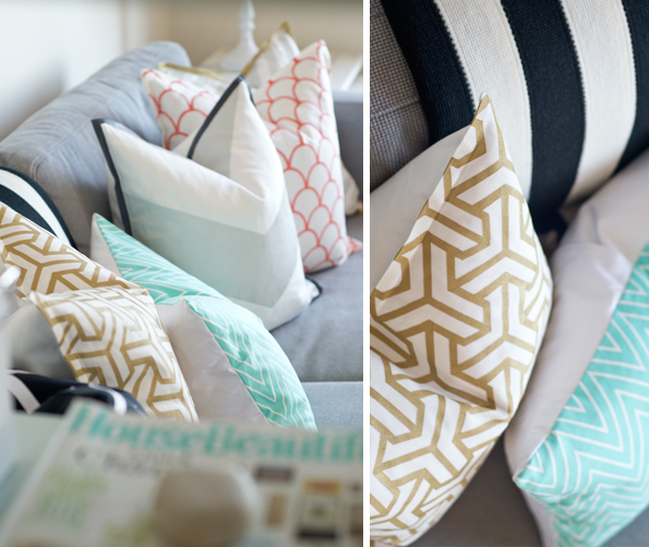 stenciling pillows