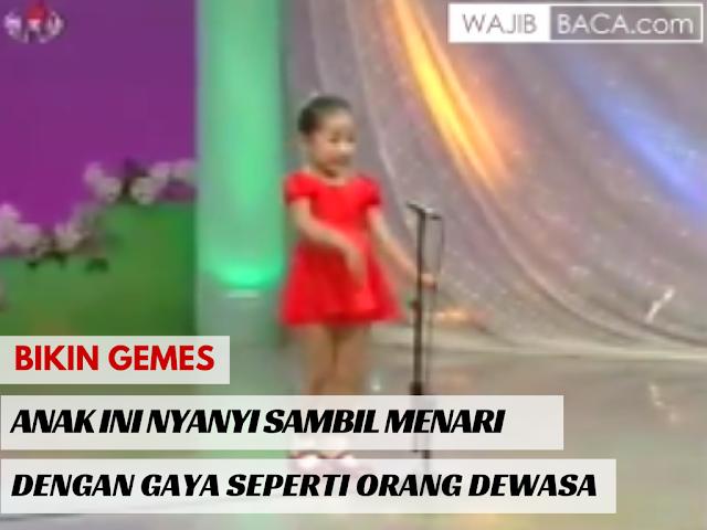 Video : Bikin Gemes! Anak Ini Menyanyi Sambil Menari dengan Gaya Centil Bak Orang Dewasa