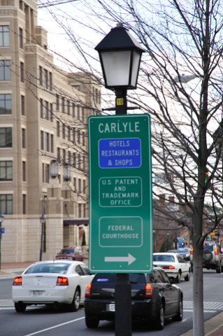 Carlyle district sign