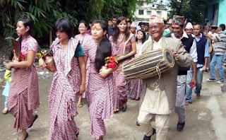 Phoolpati celebration in Mungpoo