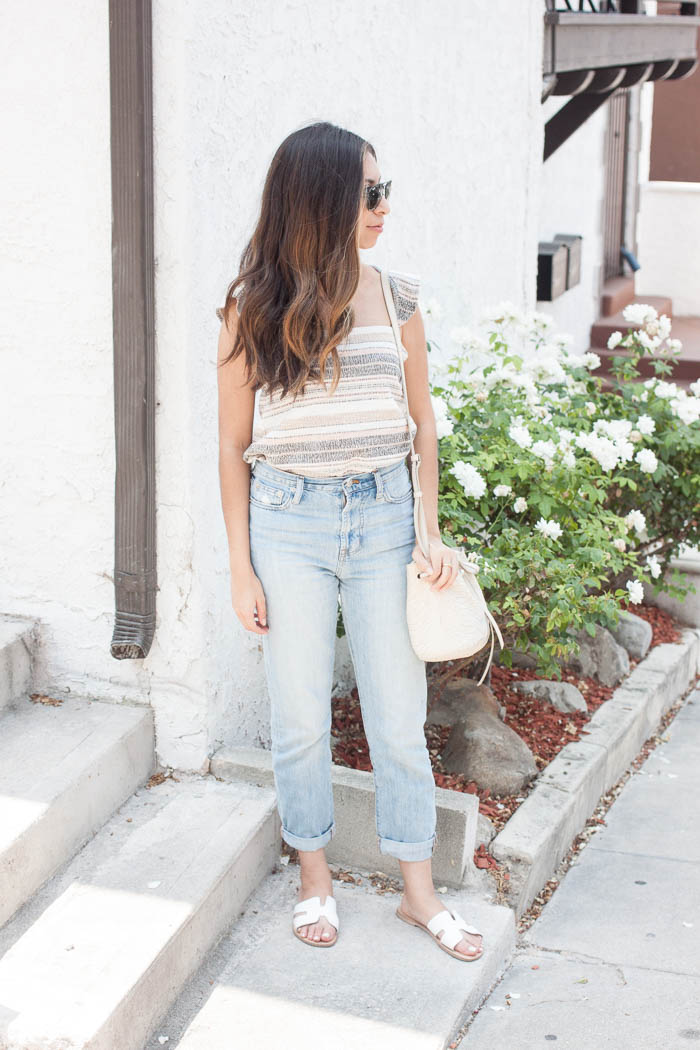 madewell stripe tank, perfect summer jeans