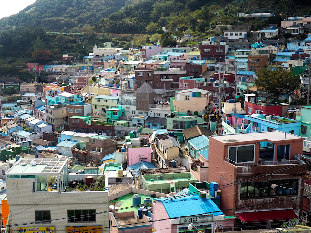 Colourful houses in the hillside | Gamcheon Village, Busan, South Korea