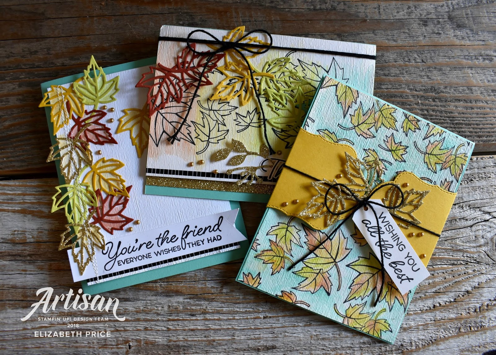 seeing ink spots blended seasons stampin up artisan blog hop