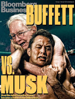 """Buffett vs. Musk"" wrestling cover (Credit: BloombergBusiness) Click to Enlarge."