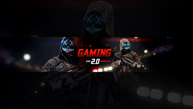 Gaming 2.0 Cover Banner Art For YouTube Channel [FREE DOWNLOAD] AdeelDrew