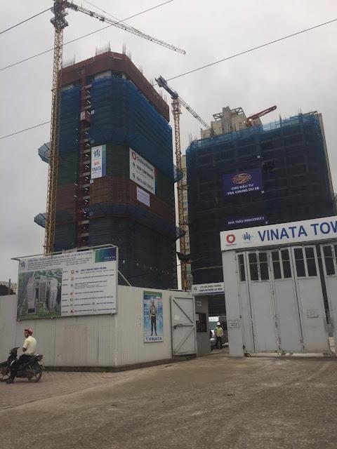 Hình ảnh thực tế tiến độ thi công chung cư Vinata Towers