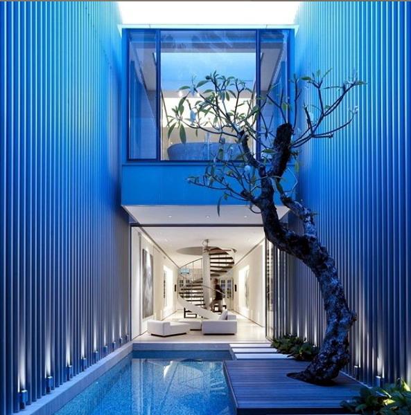 rumah minimalis kolam renang mini