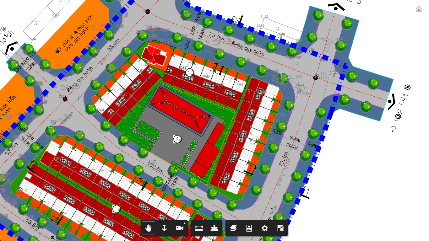 Phối cảnh chi tiết Block 1 Dự án đất nền Quán Triều - Thái Nguyên