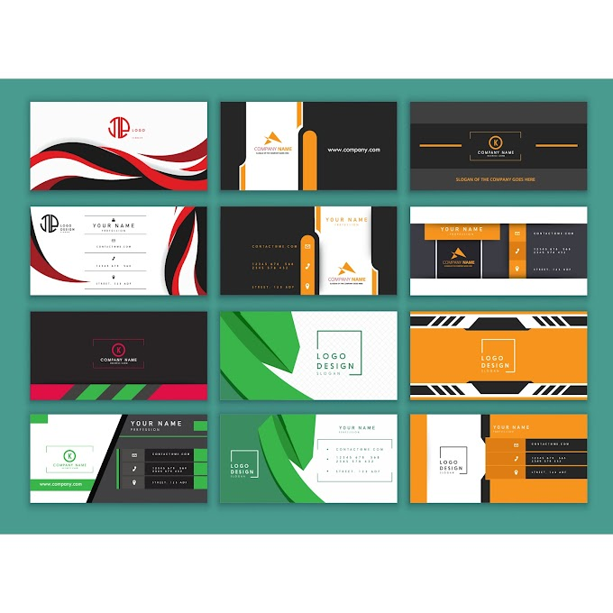 Best Business card templates modern colored design Free vector