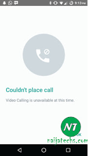 Whatsapp video calling on Android