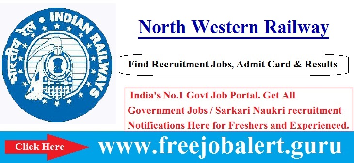 Apprentice, Railway, Railway Act/Trades Apprentices Jobs, RRB Recruitment, North Western Railway, NW Railway, Trades Apprentice, north western railway logo