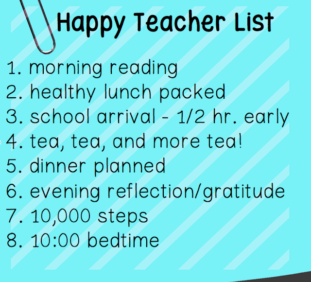 8 things on my happy teacher checklist