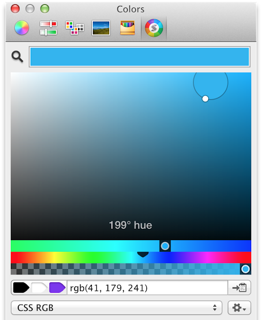 Chris Miles: Skala Color: a modern OS X colour picker for designers and developers