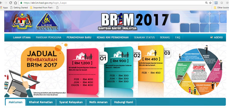 Tempoh Permohonan BR1M 2017 Dilanjutkan Sehingga 13 Januari 2017