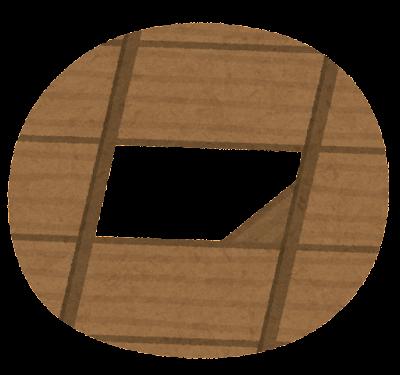 天井に隠れる忍者のイラスト(天井のみ)