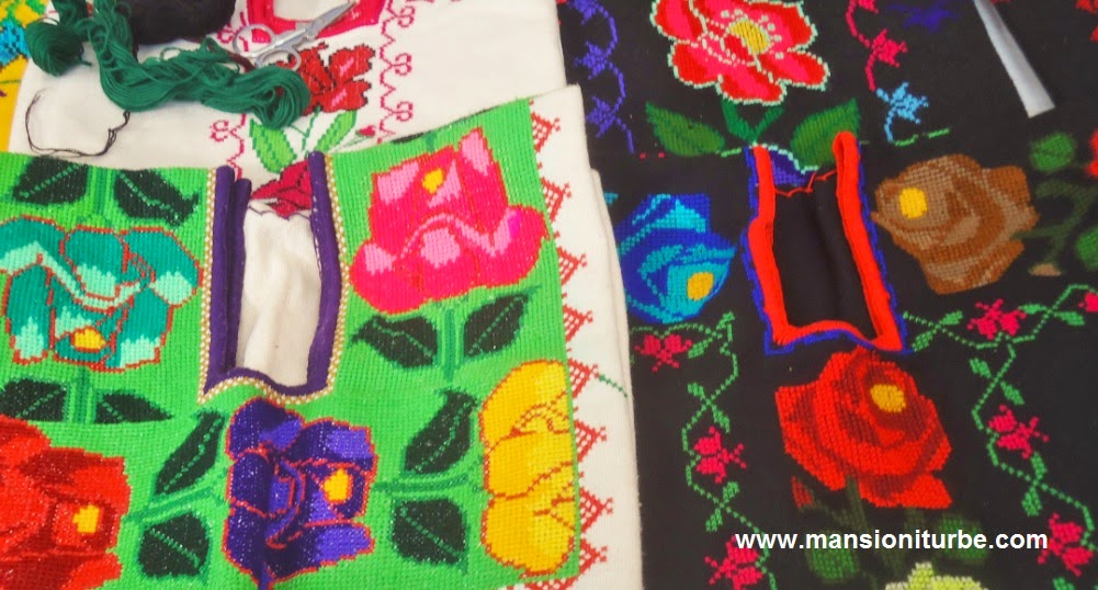Mexican Embroidery made by artisans from Michoacán