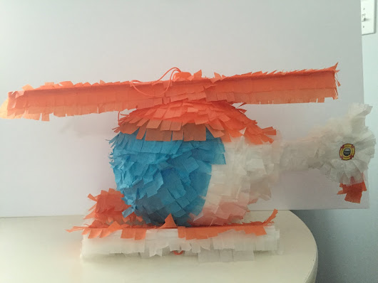 DIY TRANSFORMERS Rescue Bots Blades the Helicopter Pinata