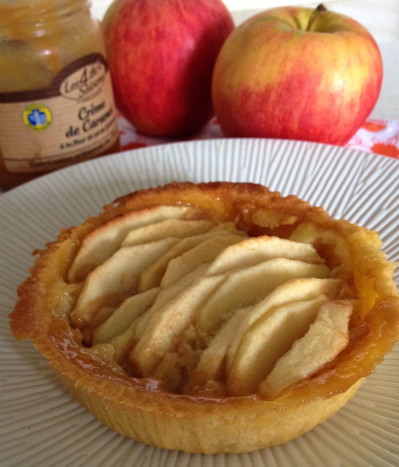 Sweet Kwisine, pommes, tarte aux pommes, caramel beurre salé, CBS, crème pâtissière, vanille