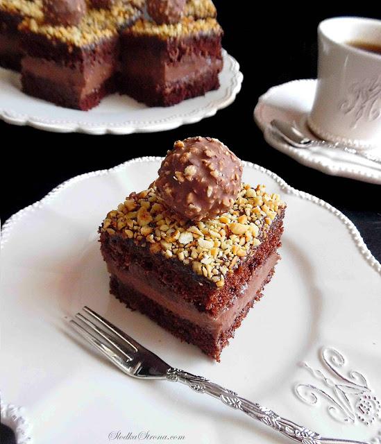 Ciasto Ferrero Rocher - Przepis - Słodka Strona