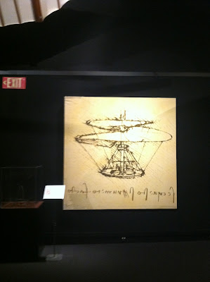 Prototype for a helicopter as designed by Da Vinci