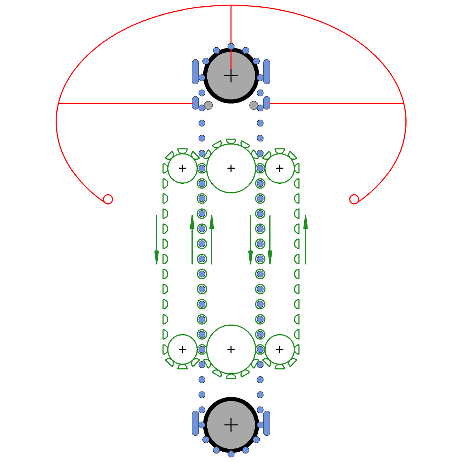 small resolution of cross sectional view of modified pelletron design with chains carrying hemispherical hollow metal shields each shield has insulating links to its