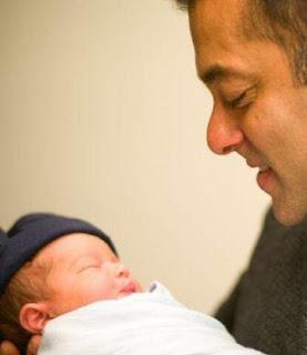 Salman Khan with baby Ahil