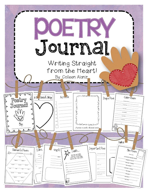 https://www.teacherspayteachers.com/Product/Poetry-Journal-Templates-to-Teach-Poetry-538886